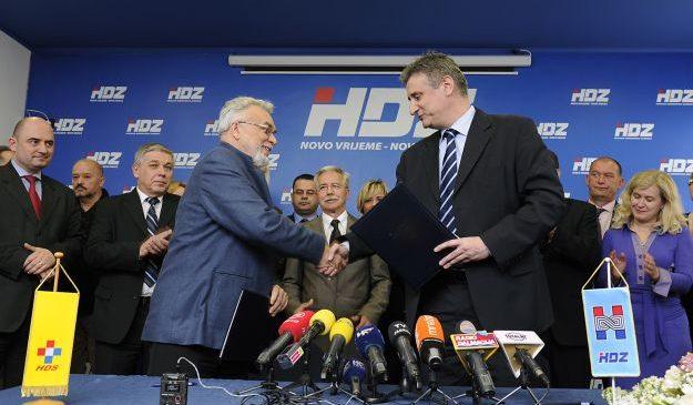 Karamarko i Dodig potpisali sporazum o koaliciji HDZ-a i HDS-a