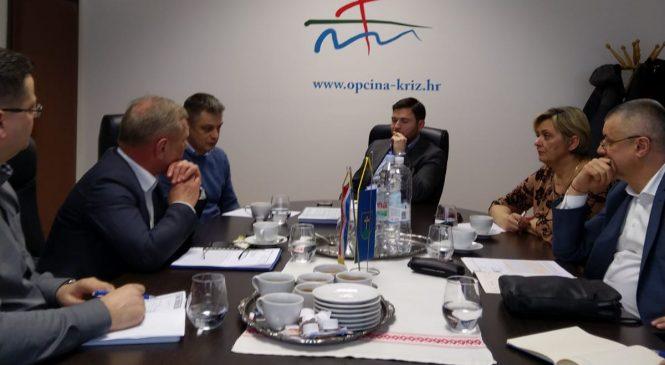 Prvi dopredsjednik HDS-a i predsjednica Podružnice HDS-a Zagrebačke županije u službenom posjetu Općini Križ